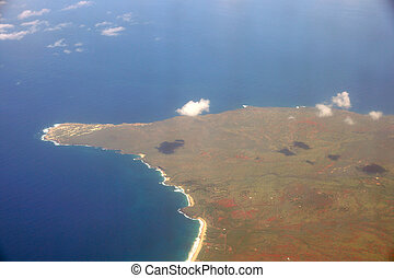 Aerial of Northwest tip of Molokai