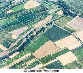 aerial of rural landscape