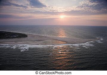 Aerial of shoal. - Scenic Bald Head Island North Carolina ...