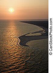 Aerial of shore.