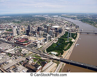 st. louis - aerial of st. louis
