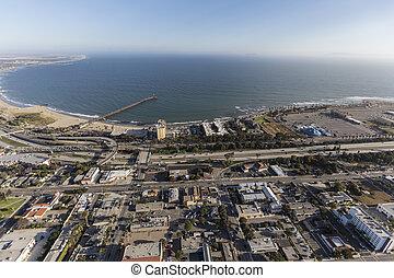Aerial of Ventura Coast in Southern California