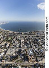 Aerial of Ventura in Southern California