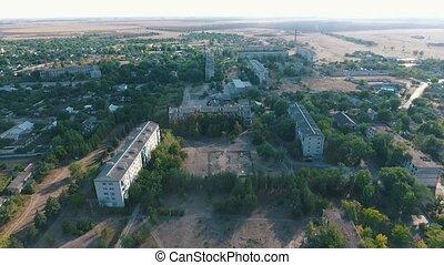 Aerial pan shot of Askania-Nova, the core of Taurida steppe...