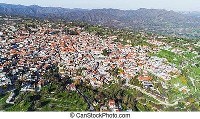 Aerial Pano Lefkara, Larnaca, Cyprus