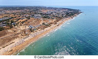 Aerial. Panorama of Albufeira aerial in Algarve region, Portugal,