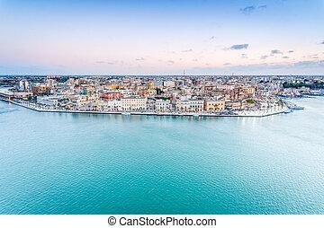Aerial panorama of Brindisi, Puglia, Italy - Aerial panorama...