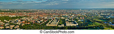 Aerial panorama of Munich. Munich, Bavaria, Germany - Aerial...