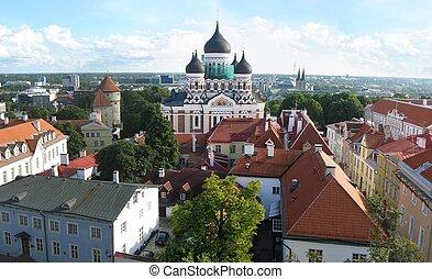 Tallinn - Aerial panorama of Tallinn, Estonia.