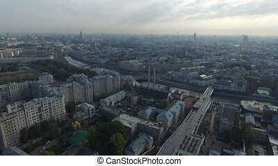 Aerial panorama of the historical center of Moscow - HD