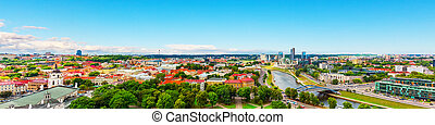 Aerial panorama of Vilnius, Lithuania - Scenic summer aerial...