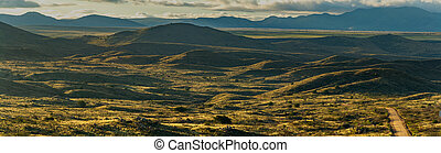 Aerial panorama over the wilderness landscape of Arizona
