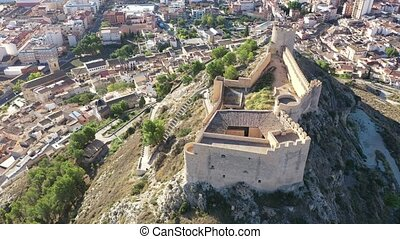 Aerial panoramic view of Ares de Maestrat in province of ...
