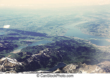 Aerial Photo Lake Zurich - Lake Zurich is a lake in...