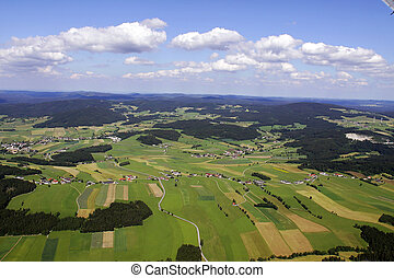 aerial photograph of a beautiful landscape