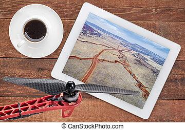 aerial photography concept - Colorado foothills