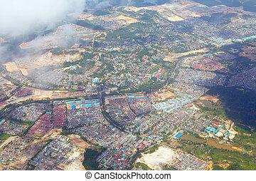 Aerial picture of non-urban city