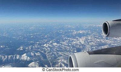 Aerial plane view