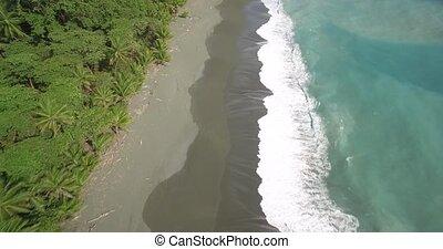 Aerial, Playa Carate, Costa Rica - Native Material, straight...