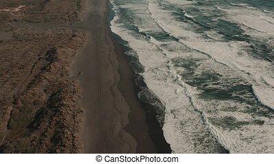 Aerial, Playa De La Boca, Chile - cine version - This clip...
