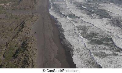 Aerial, Playa De La Boca, Chile - flat version - This clip...