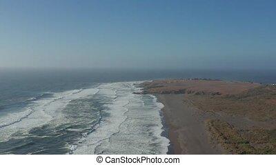 Aerial, Playa De La Boca, Chile - neutral version - This...