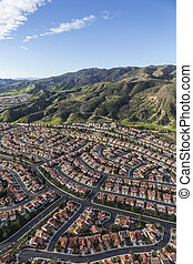 Aerial Porter Ranch California