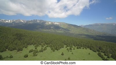 Aerial, Pyrenees Landscapes, Spain - native Version - Native...