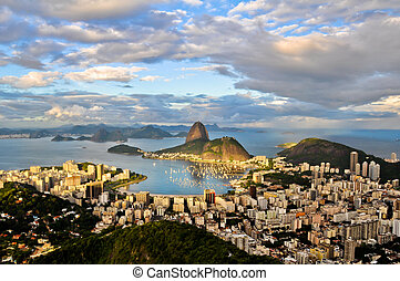 Aerial Rio de Janeiro - Panoramic view of the city from Dona...