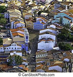 aerial Salvador Bahia Brazil - Brazilian historical center