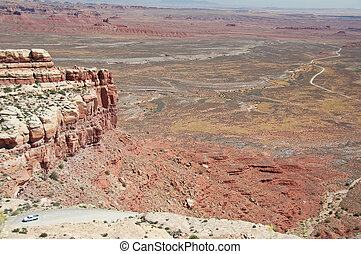scenic view from mountain top in momument valley, utah