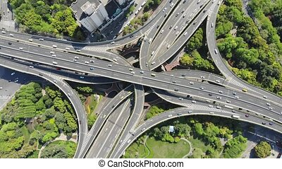 Aerial Shanghai Road Junction