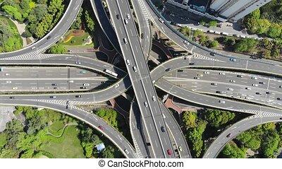 Aerial Shanghai Road Junction