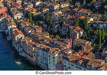 Aerial shoot of Rovinj, Croatia