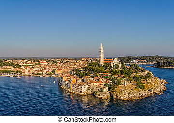 Aerial shoot of Rovinj, Croatia