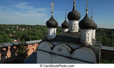 aerial shoot of Russian Orthodox Church