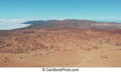 Aerial shoot of the Teide National Park, Tenerife, Canary Islands