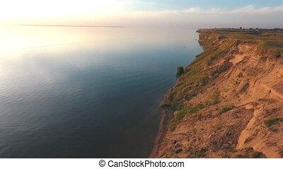 aerial shooting along the coast