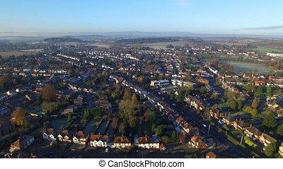Aerial shot of a neighbourhood
