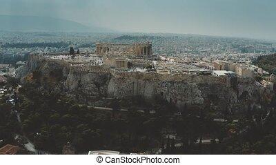 Aerial shot of ancient Acropolis