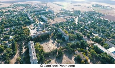 Aerial shot of Askania-Nova, the center of dry Taurida...
