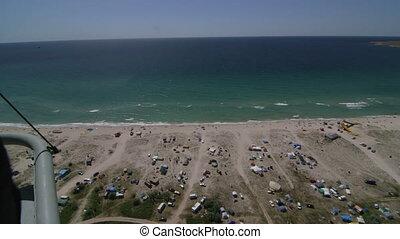 Aerial Shot Of Coastal Region Tarhankut, Crimea. Canon EOS...