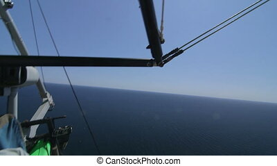 Aerial shot of hang gliding over sea Canon EOS C100