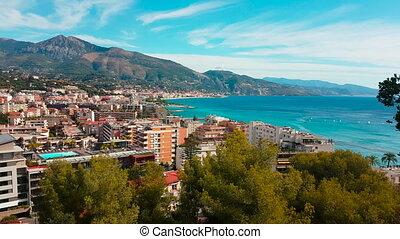 Aerial Shot of Mediterranean Resort City