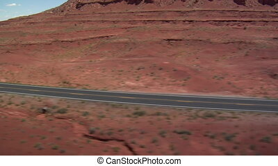 aerial shot of Monument Valley Highway wobbly