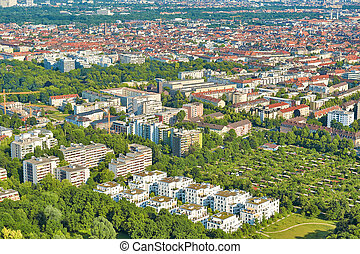 Aerial Shot of Munich