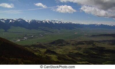 Aerial shot of Paradise Valley near Livingston Montana