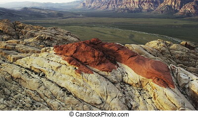 Aerial Shot of Red Rock Mountains in Nevada