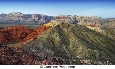 Aerial Shot of Red Rock Mountains