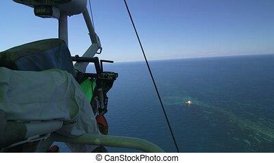 Aerial Shot Of Sinking Ship